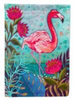 Carolines Treasures  PPD3002CHF Flamingo Beach Flag Canvas House Size