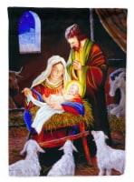 Carolines Treasures  PJH3030CHF Nativity Silent Night Flag Canvas House Size
