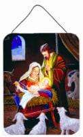 Nativity Silent Night Wall or Door Hanging Prints