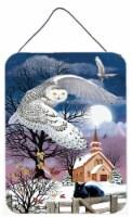 Owl Halloween Moon Wall or Door Hanging Prints - 16HX12W
