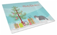 Exotic Shorthair #2 Cat Merry Christmas Glass Cutting Board Large