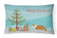 Exotic Shorthair #1 Cat Merry Christmas Canvas Fabric Decorative Pillow