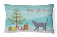 Korat #3 Cat Merry Christmas Canvas Fabric Decorative Pillow