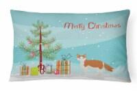 La Perm #2 Cat Merry Christmas Canvas Fabric Decorative Pillow