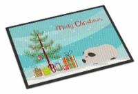 Himalayan Guinea Pig Merry Christmas Indoor or Outdoor Mat 18x27 - 18Hx27W