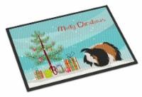 Sheba Guinea Pig Merry Christmas Indoor or Outdoor Mat 18x27