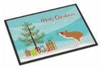 White Legged Hamster Merry Christmas Indoor or Outdoor Mat 18x27 - 18Hx27W