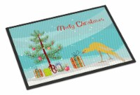 Belgian Hunchback Canary Merry Christmas Indoor or Outdoor Mat 18x27