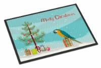 Carolines Treasures  CK4500MAT Macaw Merry Christmas Indoor or Outdoor Mat 18x27