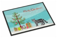 Scottish Straight Cat Merry Christmas Indoor or Outdoor Mat 18x27