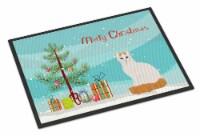 Turkish Van Cat Merry Christmas Indoor or Outdoor Mat 18x27