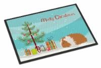 Texel Guinea Pig Merry Christmas Indoor or Outdoor Mat 24x36 - 24Hx36W