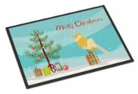 French Curly Canary Merry Christmas Indoor or Outdoor Mat 24x36