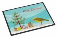 Lizard Canary Merry Christmas Indoor or Outdoor Mat 24x36 - 24Hx36W