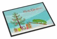 Chameleon Merry Christmas Indoor or Outdoor Mat 24x36 - 24Hx36W