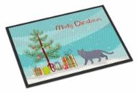 British Shorthair #1 Cat Merry Christmas Indoor or Outdoor Mat 24x36 - 24Hx36W