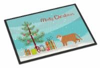 European Shorthair #1 Cat Merry Christmas Indoor or Outdoor Mat 24x36 - 24Hx36W