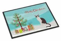 Oriental Bicolor Cat Merry Christmas Indoor or Outdoor Mat 24x36