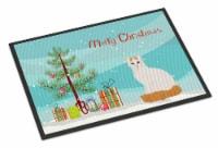 Turkish Van Cat Merry Christmas Indoor or Outdoor Mat 24x36