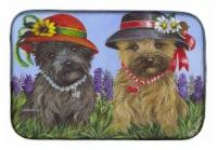 Carolines Treasures  PPP3254DDM Cairn Terrier Sisters Dish Drying Mat