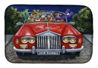 Carolines Treasures  PPP3262DDM Jack Russell Evening Cruise Dish Drying Mat
