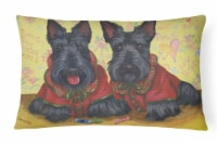 Scottish Terrier Scotties Rule Canvas Fabric Decorative Pillow