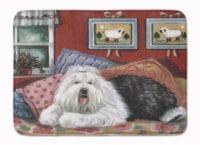 Old English Sheepdog Sweet Dreams Machine Washable Memory Foam Mat