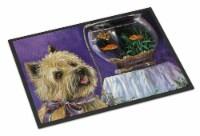 Cairn Terrier Gone Fishing Indoor or Outdoor Mat 18x27