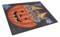 Carolines Treasures  PPP3070LCB Chihuahua Halloweenies Glass Cutting Board Large - 12Hx15W
