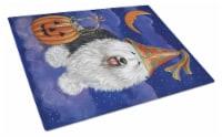 Old English Sheepdog Halloween Glass Cutting Board Large - 12Hx15W