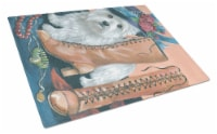Carolines Treasures  PPP3211LCB Westie in Mom's Closet Glass Cutting Board Large