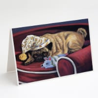 Pug Goodnight Sweetheart Greeting Cards and Envelopes Pack of 8 - A7