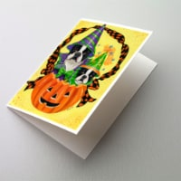 Boston Terrier Halloweenies Greeting Cards and Envelopes Pack of 8 - A7
