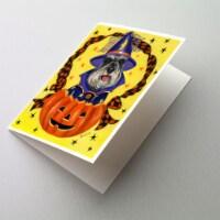 Carolines Treasures  PPP3161GCA7P Schnauzer Halloween Greeting Cards and Envelop - A7