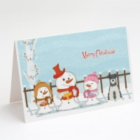 Merry Christmas Carolers Miniature Schnauzer Salt and Pepper Greeting Cards and - A7