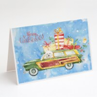 Merry Christmas Bichon Fris? Greeting Cards and Envelopes Pack of 8 - A7