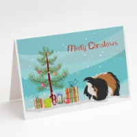 Sheba Guinea Pig Merry Christmas Greeting Cards and Envelopes Pack of 8 - A7