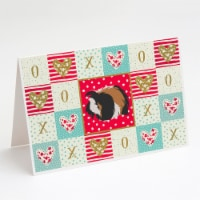 Sheba Guinea Pig Love Greeting Cards and Envelopes Pack of 8 - A7
