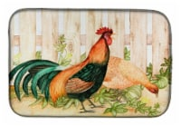 Carolines Treasures  FHC1009DDM Chicken and Rooster by Ferris Hotard Dish Drying