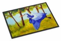 Carolines Treasures  FHC1007JMAT Fyling Heron by Ferris Hotard Indoor or Outdoor