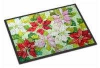 Carolines Treasures  FHC1008JMAT Poinsettias by Ferris Hotard Indoor or Outdoor