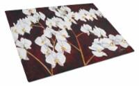 Carolines Treasures  FHC1003LCB Orchids by Ferris Hotard Glass Cutting Board Lar