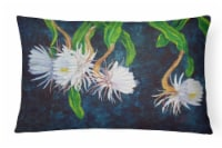 Night Blooming Cereus by Ferris Hotard Canvas Fabric Decorative Pillow