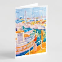 Carolines Treasures  6017GCA7P Shirmp Boats Greeting Cards and Envelopes Pack of - A7