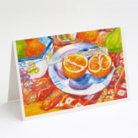 Florida Oranges Sliced for breakfast Greeting Cards and Envelopes Pack of 8 - A7