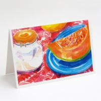 Carolines Treasures  6036GCA7P A Slice of Cantelope Greeting Cards and Envelopes - A7