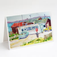 Seafood Shack for fresh shrimp Greeting Cards and Envelopes Pack of 8 - A7