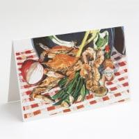Carolines Treasures  8537GCA7P Crab Boil Greeting Cards and Envelopes Pack of 8 - A7