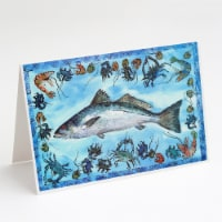 Carolines Treasures  8086GCA7P Fish Speckled Trout Greeting Cards and Envelopes - A7