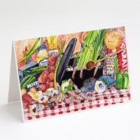 Gumbo and Potato Salad Greeting Cards and Envelopes Pack of 8 - A7
